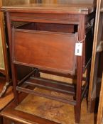 A Victorian card table with four shelves W.53cm