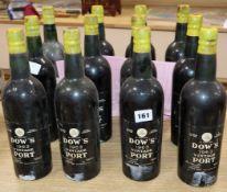 Twelve bottles of Dows vintage port 1963