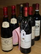 Seven bottles of wines Louis Jadot Corton-Pougets 92, Ch. Giscours Margaux 1983 Ch Talbot 1979, Ch