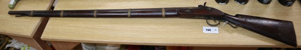 An Indian percussion lock musket