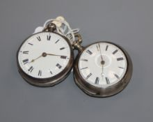 A 19th century silver pair-cased pocket watch, by Fleming of Liverpool and one other pocket watch by
