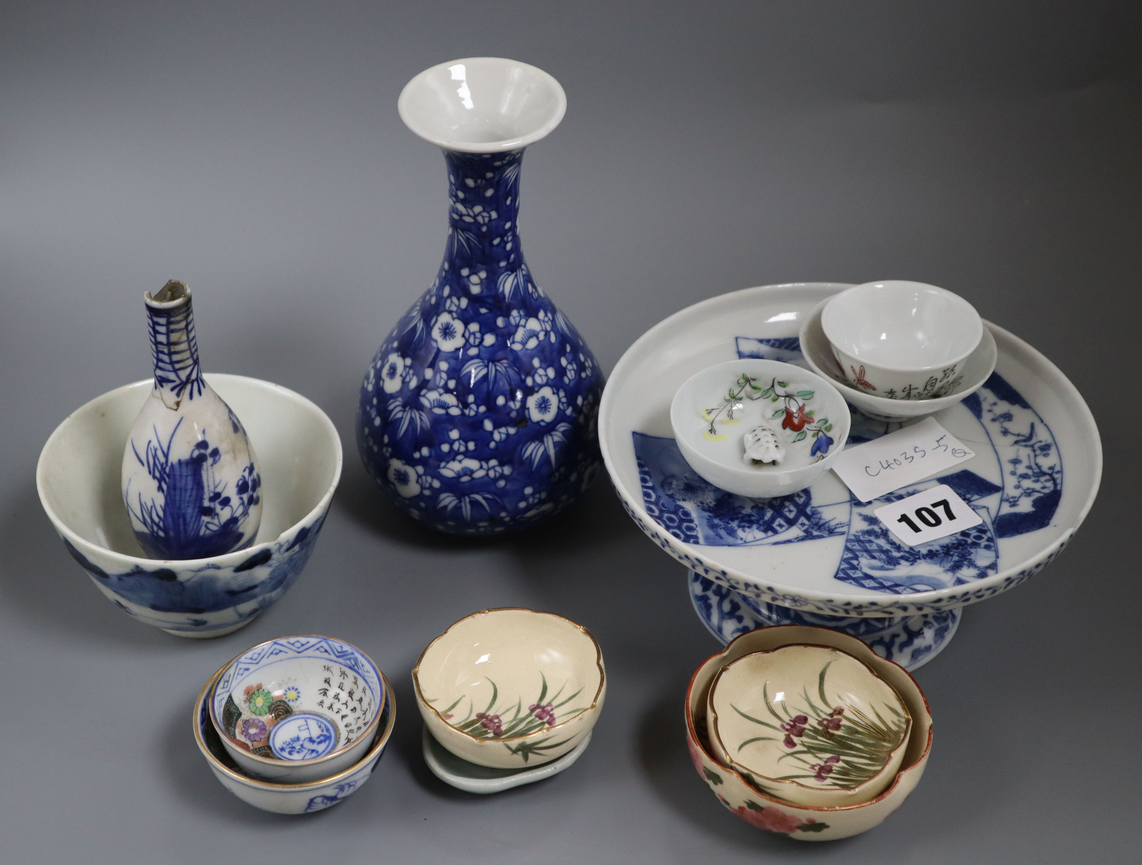 Lot 107 - A group of Chinese ceramics tallest 18cm