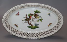 A Herend dish length 26.5cm