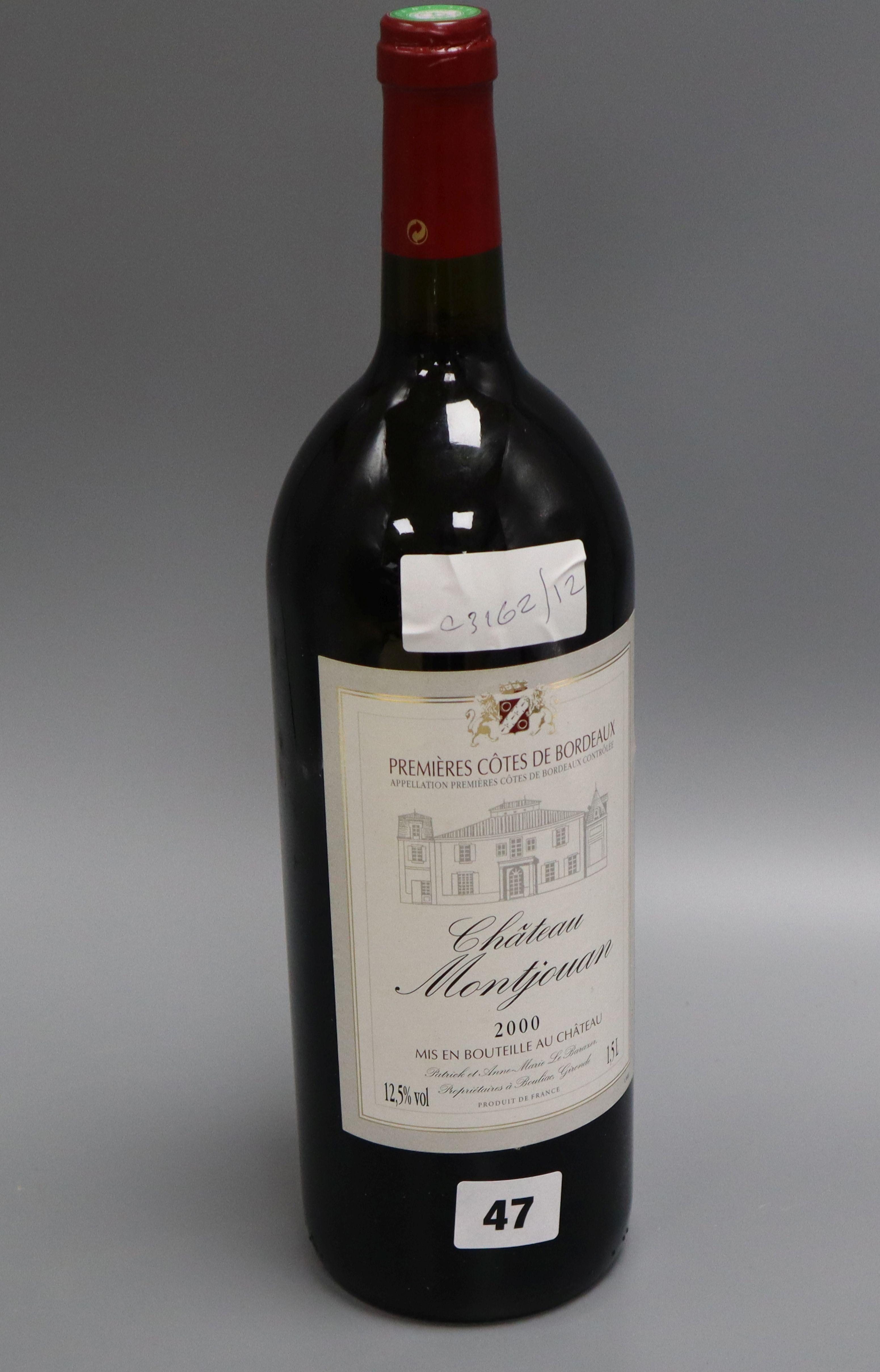 Lot 58 - A 1.5l bottle of Chateau Moutjonan 2000