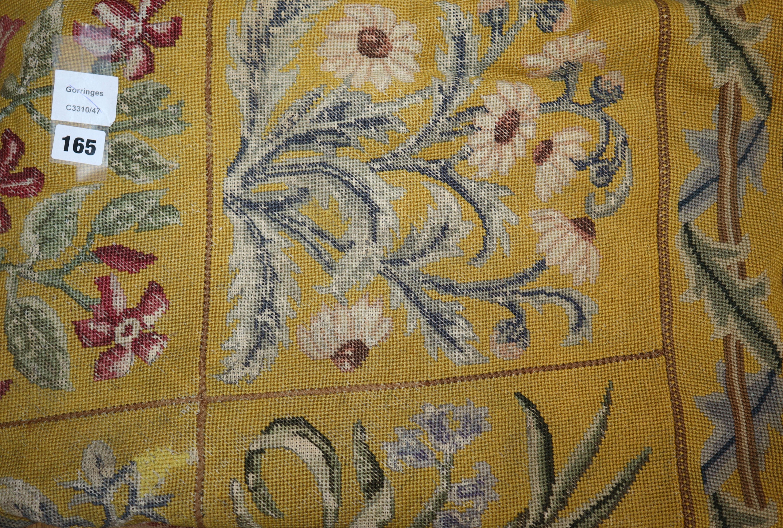 Lot 165 - A 19th century Aubusson style needlepoint panel