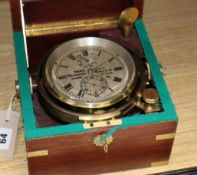 A modern ship's chronometer by Dent, No. 2109
