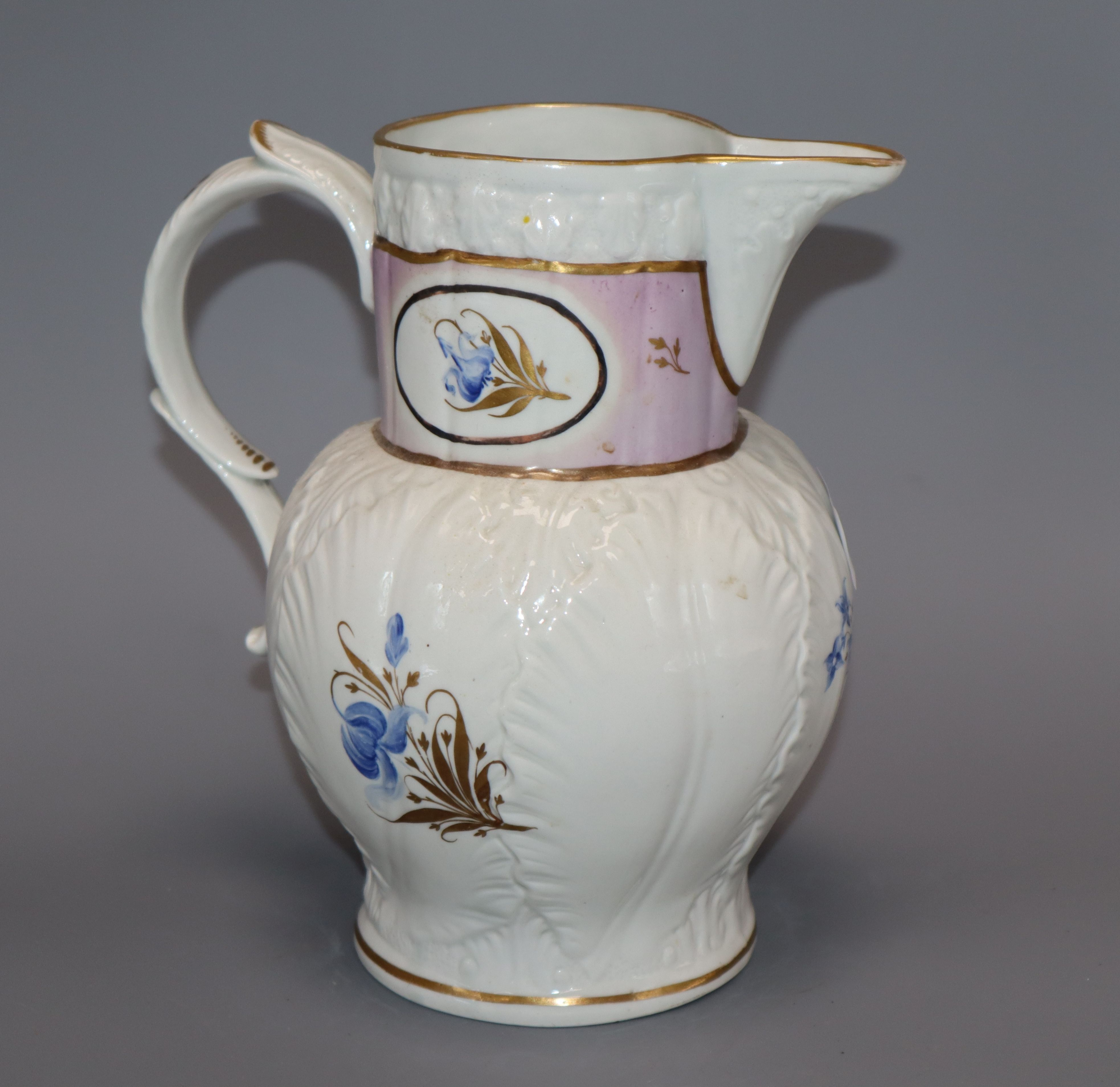Lot 15 - A late 18th century Worcester jug height 20cm