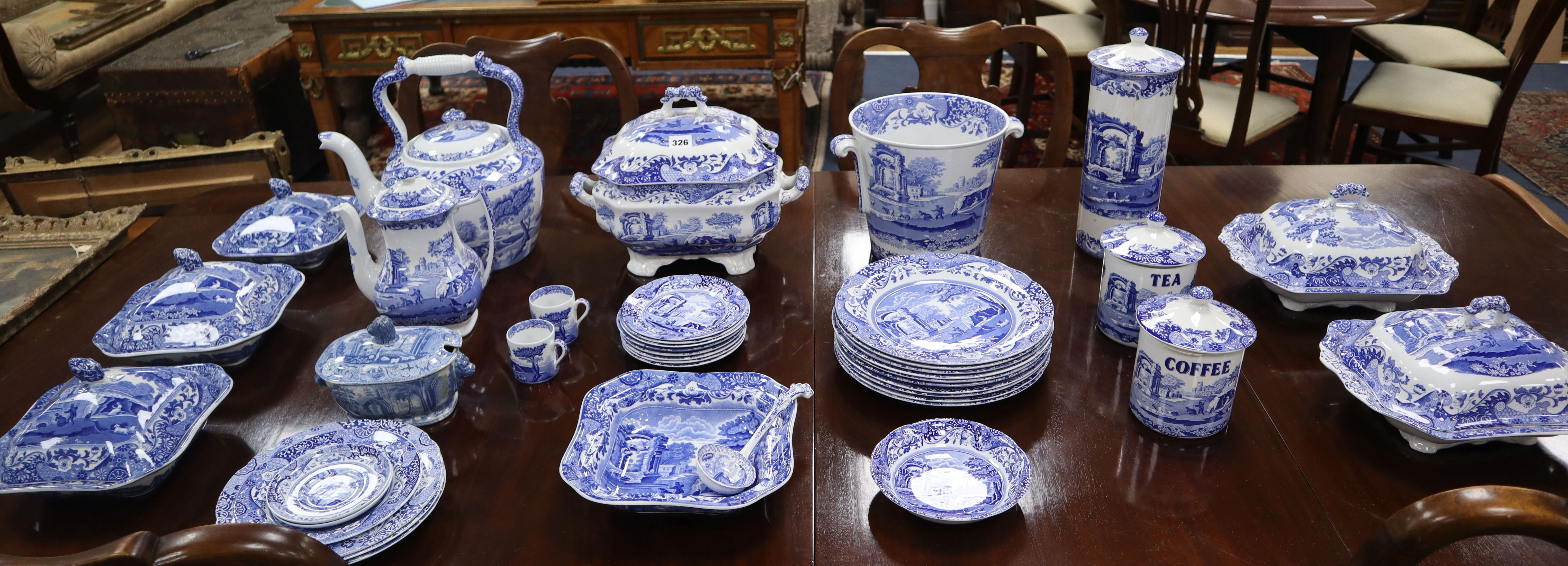 Lot 326 - A collection of Spode Italian blue and white dinner ware