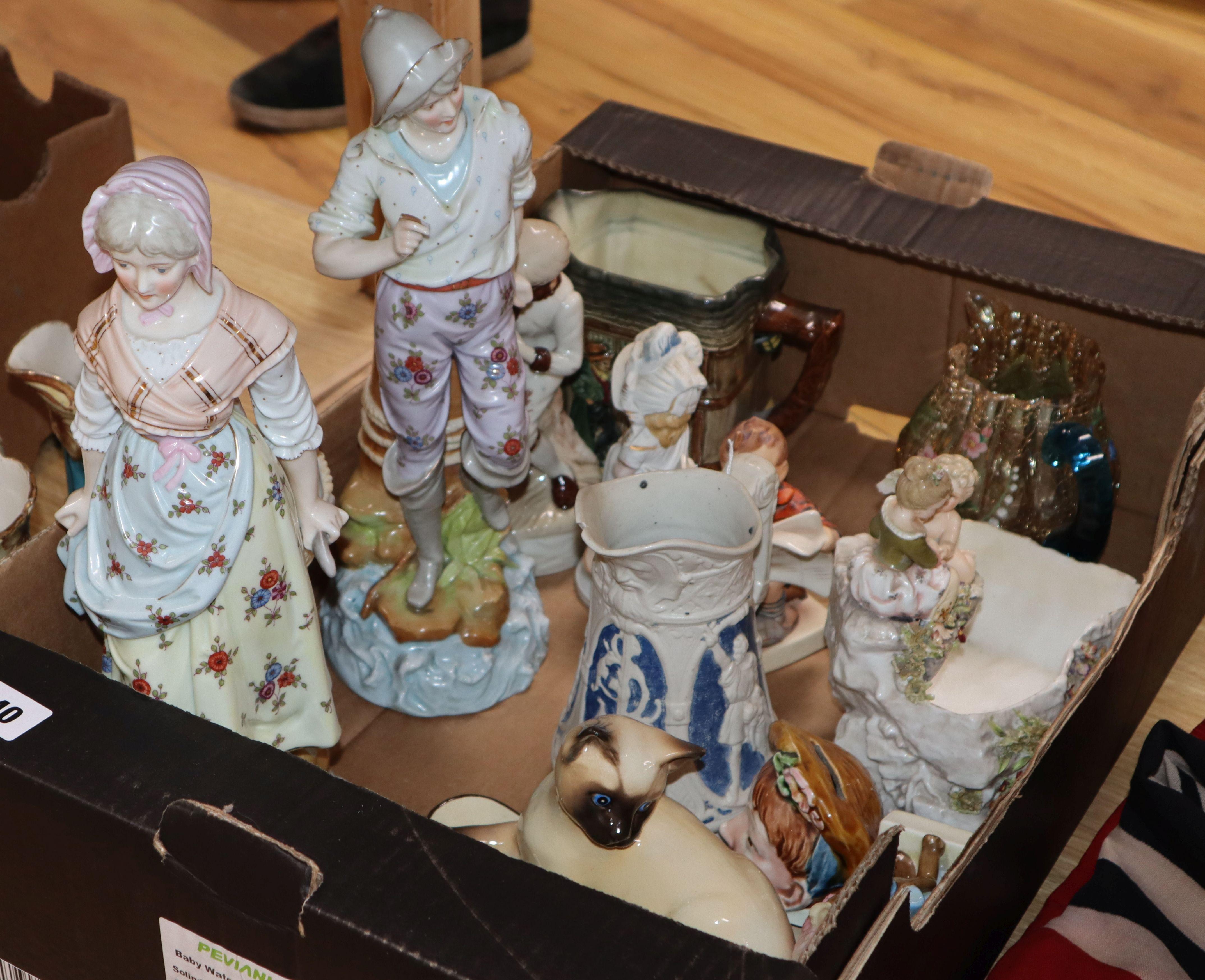 Lot 40 - A quantity of mixed decorative ceramics and glassware