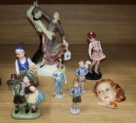 A collection of Austrian and other figurines from 1930's and later