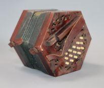 A cased concertina