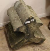 A stone roof finial L.43cm