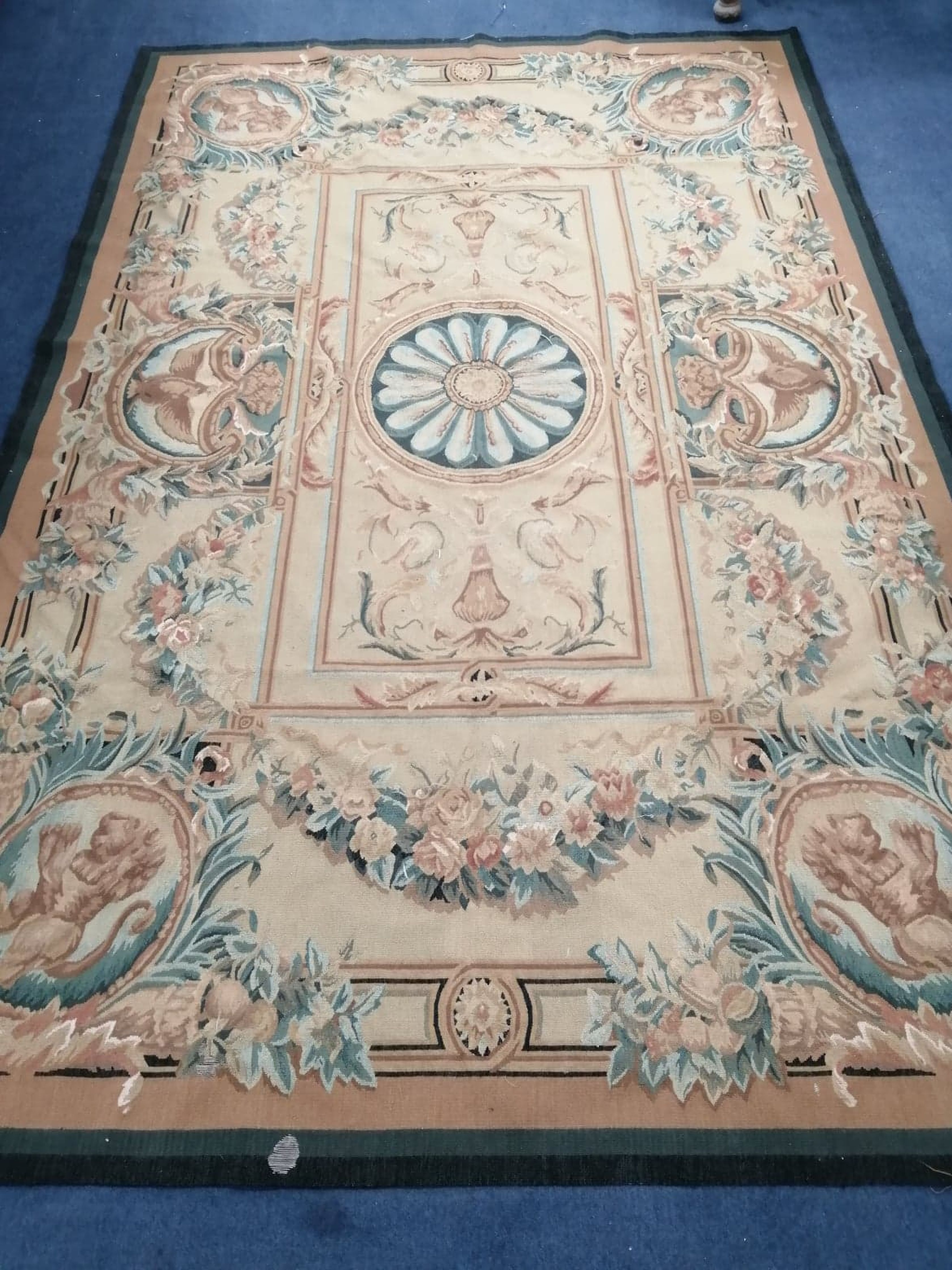 Lot 907 - An Aubusson style tapestry hanging 272 x 177cm