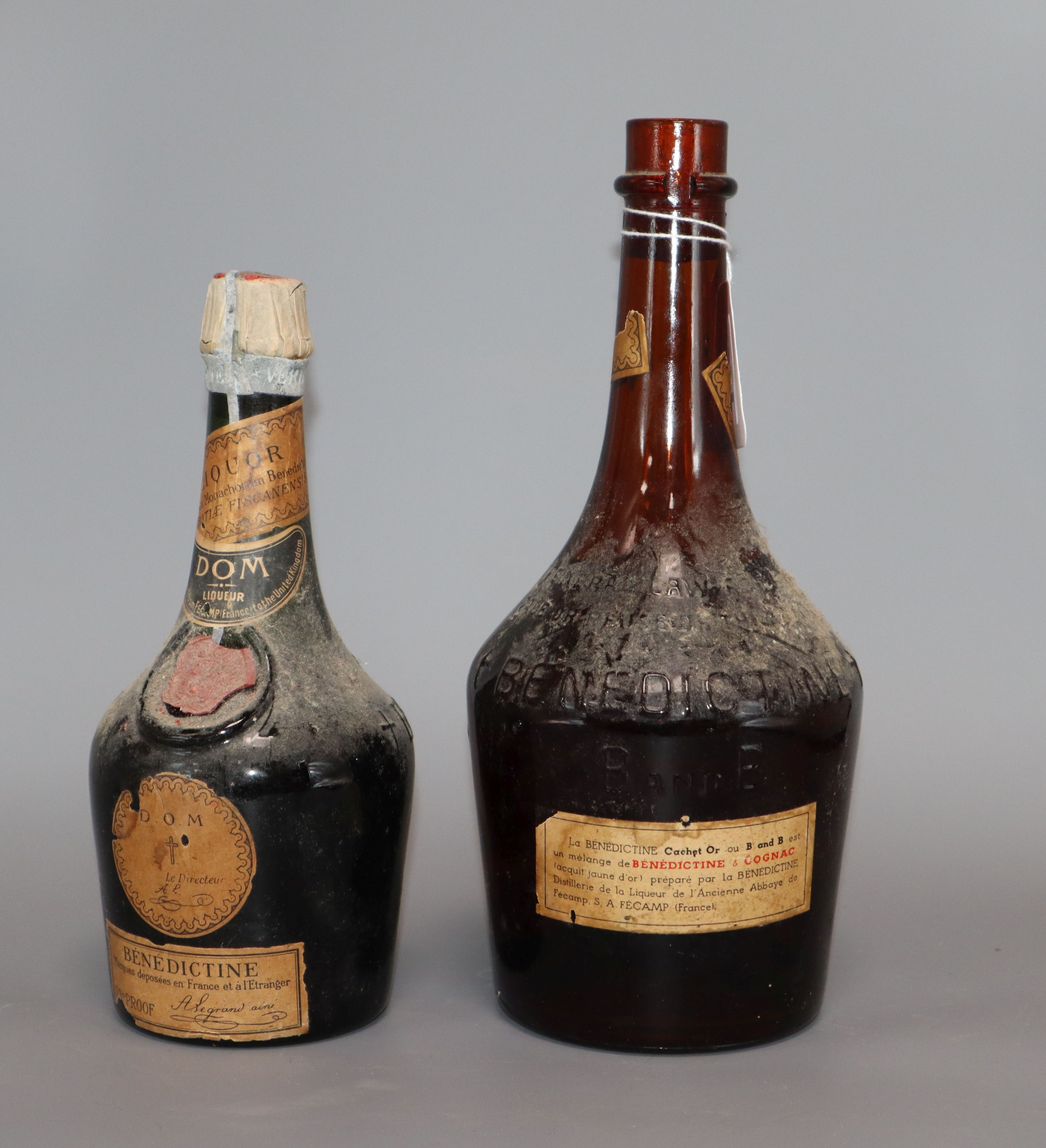 Lot 110 - Two bottles of Benedictine, 70 proof and 43 proof