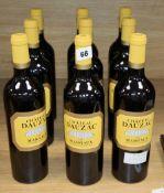 Nine bottles of Chateau Dauzac Margeaux 2013