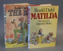 Dahl, Roald - The BFG, 1st edition, with clipped d.j., illustrated by Quentin Bell, Jonathan Cape,