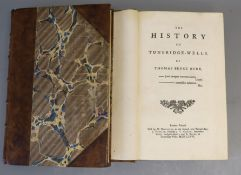 Newton, William - The History and Antiquities of Maidstone, 8vo, rebound, half calf, with repaired