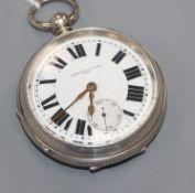 John Dyson & Sons, Leeds, a silver open-face keywind pocket watch.