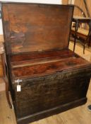 A carpenter's chest with fitted interior W.104cm