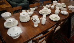 An extensive Wedgwood Moss Rose pattern tea and dinner service