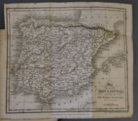 Conder, Josiah - A Popular Description of Spain and Portugal, 2 vols, 16mo, cloth, with folding