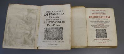 Luyts, Joannis - Philosophie Professoris as Geographiam Novam et Veteren, qto, vellum, lacking