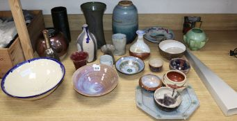 A collection of late 20th / early 21st century glazed art pottery