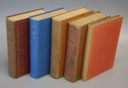 Ford, Ford Madox - 5 works - The Panel, 1st English edition, 8vo, reddish-brown cloth, Constable &