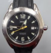 A gentleman's stainless steel Rotary Editions 1895 waterproof automatic wrist watch, c.RE2008-1,