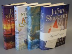 Stockwin, Julian - Four 1st editions from the Thomas Kydd series - Kydd, signed, 1988; Artemis 2002;