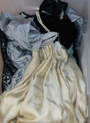 A collection of 1930's-1950s evening dresses
