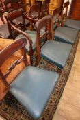 A harlequin set of ten Regency dining chairs