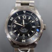 A gentleman's stainless steel Limited Edition Eterna Kontiki Eterna-Matic chronometer wrist watch,