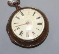 John Holmes, Strand, London, a gilt pair-cased key-wind pocket watch.