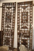 A pair of Victorian cast iron gates W.136cm
