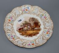 A Meissen outside decorated circular porcelain dish diameter 29cm