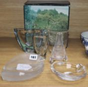 A collection of Orrefors and other signed Studio glass