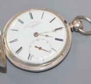 W. H. Slater, Liverpool, a silver 'Railway Timekeeper' hunter key-wind pocket watch.
