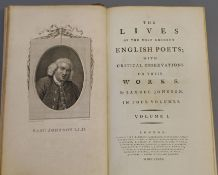 Johnson, Samuel - The Lives of the Most Eminent English Poets, 4 vols, 8vo, engraved frontis