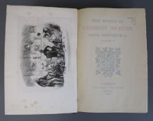 Dickens, Charles - Works - National edition, one of 750, royal 8vo, 40 vols, with plates by Phiz,
