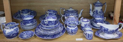 A collection of Spode Italian tea wares