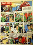 Dan Dare original artwork by Frank Hampson and Howard Johns. Dan Dare - Pilot of the Future, full