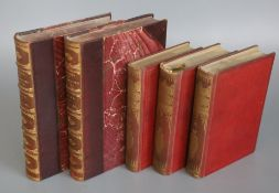 Leather and Cloth Bound Miscellany, includes J.R. Green's History of the English People, 8 vols,