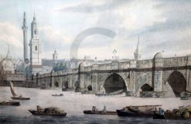Manner of Thomas Rowlandsonink and watercolourFerry barges before Old London Bridge15.25 x 22.75in.