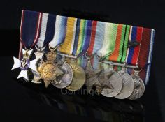 An important group of medals to Admiral Sir Geoffrey Alan Brooke Hawkins KBE, CB, MVO, DSC, with