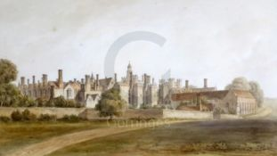 John (1770-1851) and John Chessel (1793-1894) Bucklertwo watercoloursSouth View of Knowle (sic) from