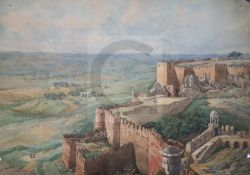 General Sir John Miller Adye (1819-1900)watercolour'Fort Gwalior' (circa 1857-1866)signed lower
