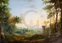 Manner of Claude Lorrain (1600-1682), 18th Century French Schooloil on canvasClassical landscape