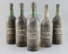 Six bottles of Dows 1970 Vintage Port