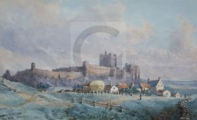 General Sir John Miller Adye (1819-1900)watercolourView of Bamburgh Castle, Northumberland,titled '